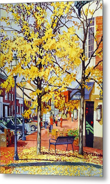 Morning Delivery Metal Print