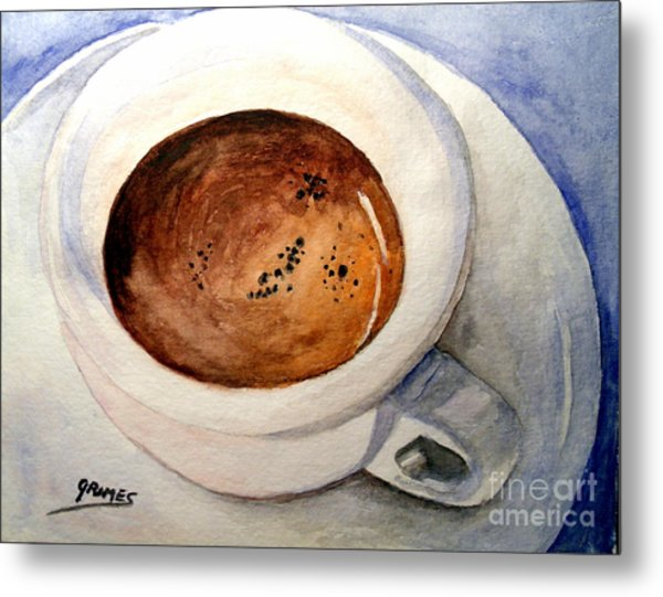 Morning Espresso Metal Print