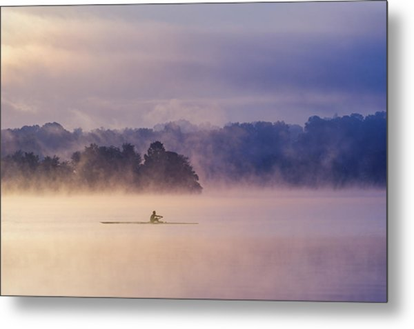 Morning Exercise Metal Print