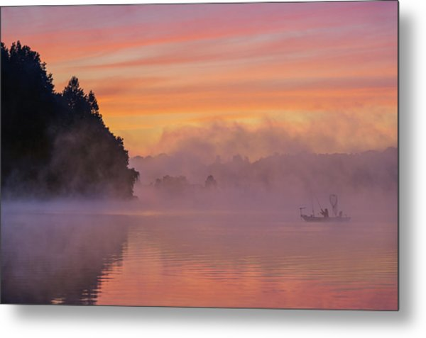 Morning Fishing Metal Print