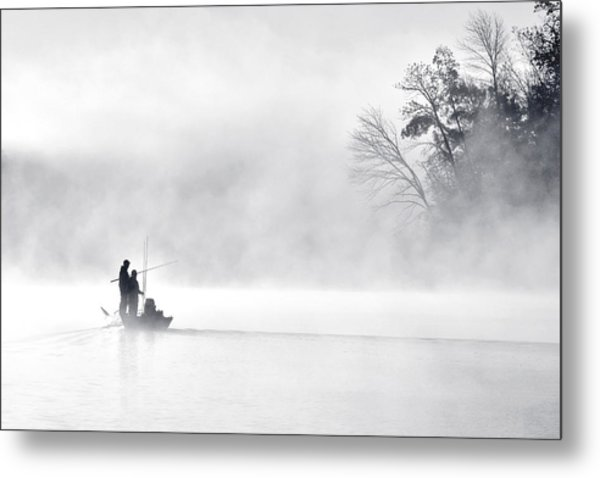 Morning Fishing 5 Metal Print