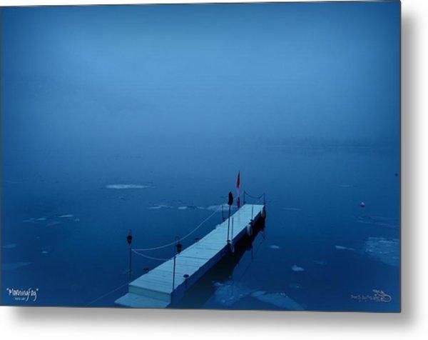 Morning Fog 001 - Skaha Lake 03-06-2014 Metal Print