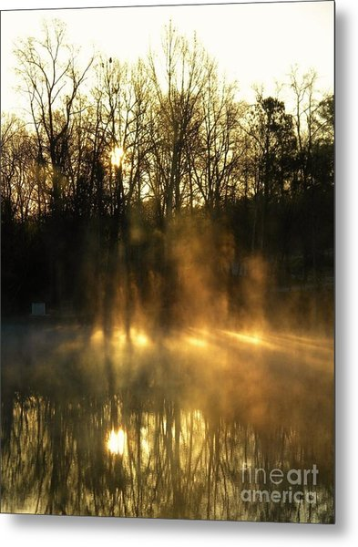 Morning Fog Rising Metal Print