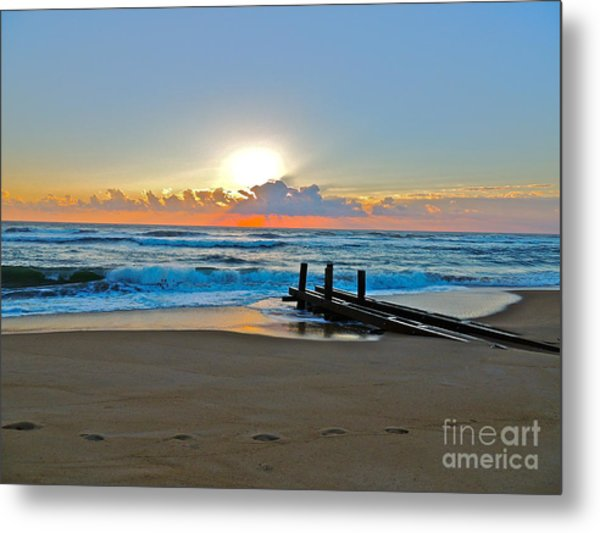 Morning Footprints Metal Print