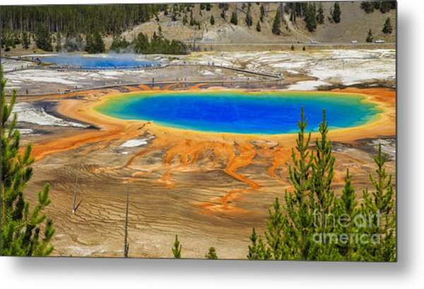 Grand Prismatic Geyser Yellowstone National Park Metal Print
