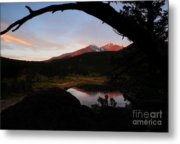 Morning Glow On Mountain Peaks Metal Print