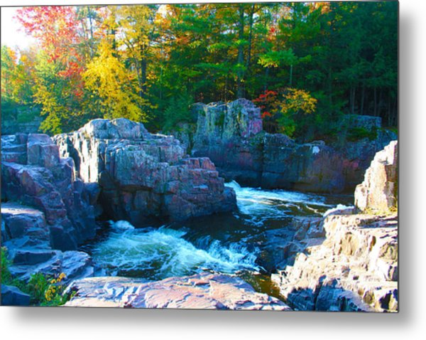 Morning In Eau Claire Dells Metal Print