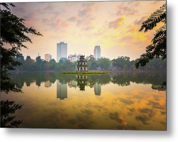 Morning In Hoan Kiem Lake Of Hanoi Metal Print by Spc#jayjay