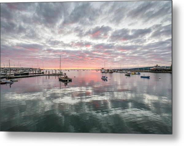 Morning In Rockland Harbor Metal Print