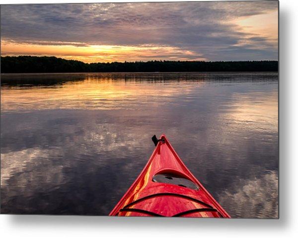 Morning Kayak Metal Print