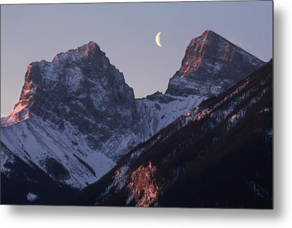 Morning Light Canmore Metal Print