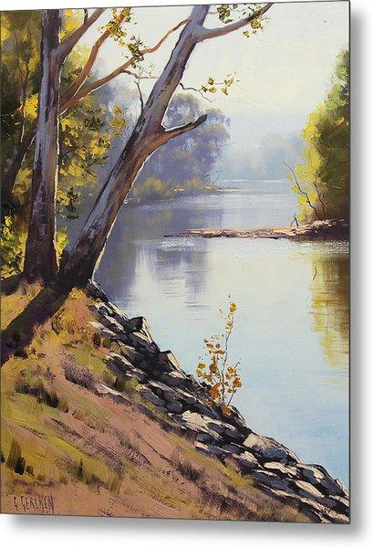 Morning Light Tumut River Metal Print