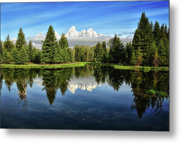 Morning Magic At Schwabacher Metal Print by Jeff R Clow
