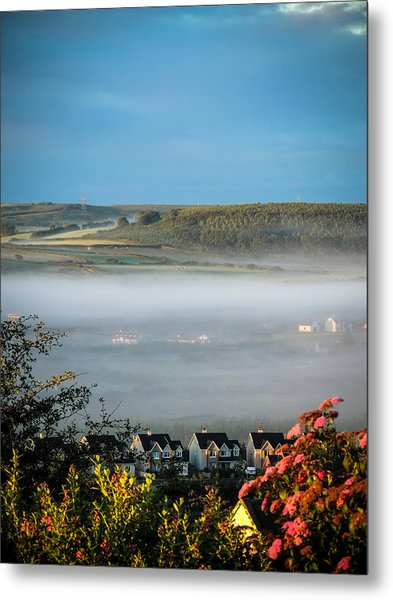 Morning Mist Over Lissycasey Metal Print