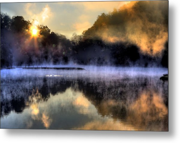 Morning Mist Metal Print by Steve Parr