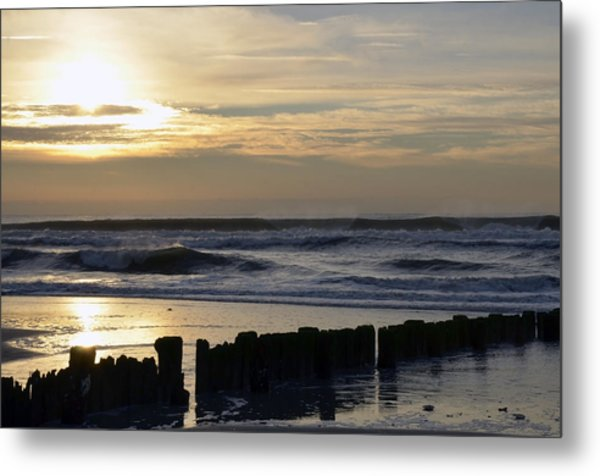 Morning Ocean Rockaway Beach 3 Metal Print