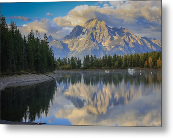Morning On Colter Bay Metal Print by Michael Schwartz