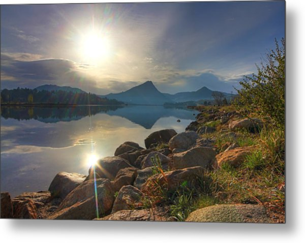 Morning On Lake Estes Metal Print