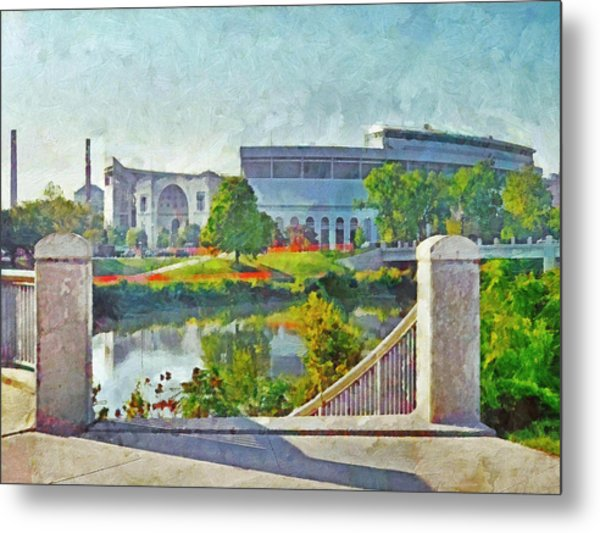 The Horseshoe By Morning Light. The Ohio State University Metal Print