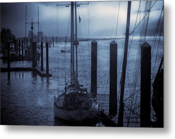 Morning On The Siuslaw Metal Print by Michael Connor