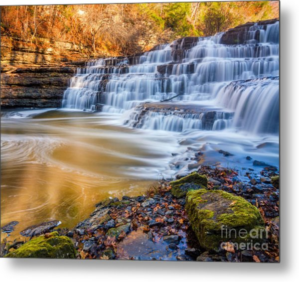 Morning On The Upper Falls Metal Print