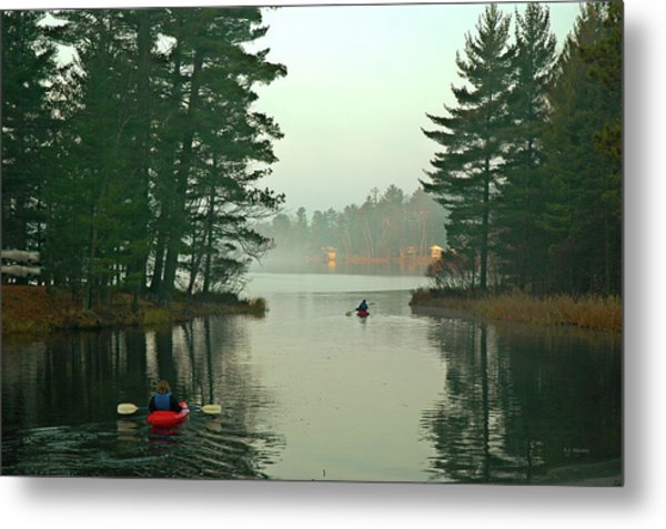 Morning Paddle Metal Print by RJ Martens