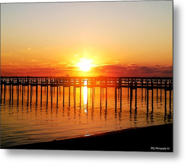 Morning Pier Metal Print