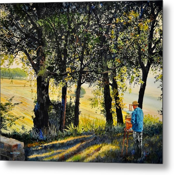 Morning Plein-air In Southern France Metal Print