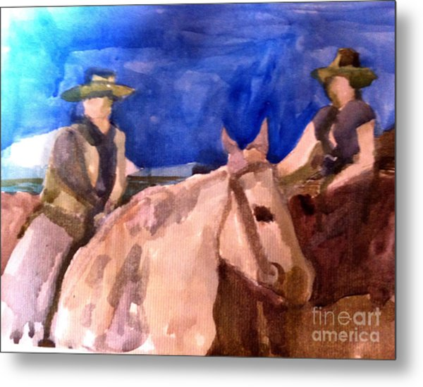 Morning Ride Metal Print by Sandra Stone
