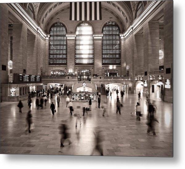 Morning Rush - Grand Central Terminal Metal Print