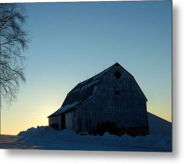 Morning Silhouette Metal Print