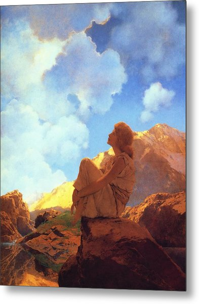 Metal Print featuring the painting Morning Spring by Maxfield Parrish