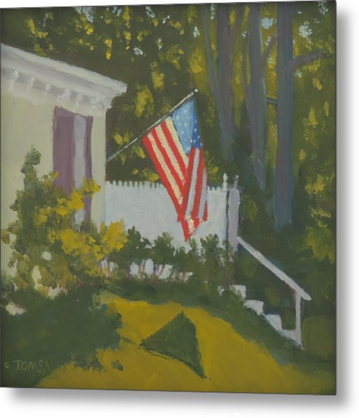Morning Sun On Old Glory Metal Print