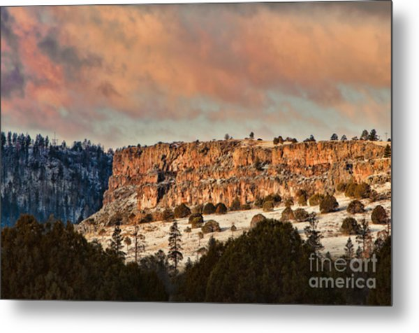 Morning Sun On The Ridge Metal Print