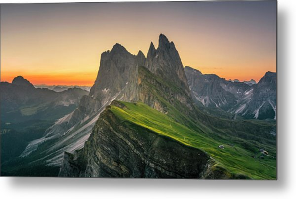 Morning Twilight At Secede, Italy Metal Print by Chalermkiat Seedokmai