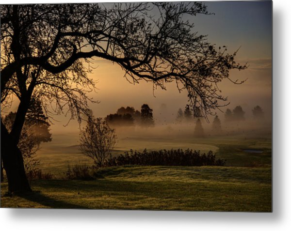 Morning Valley Fog Metal Print by Don Powers
