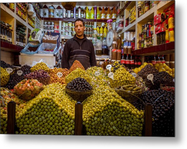 Moroccan Grocery Metal Print by Pierre-Yves Babelon