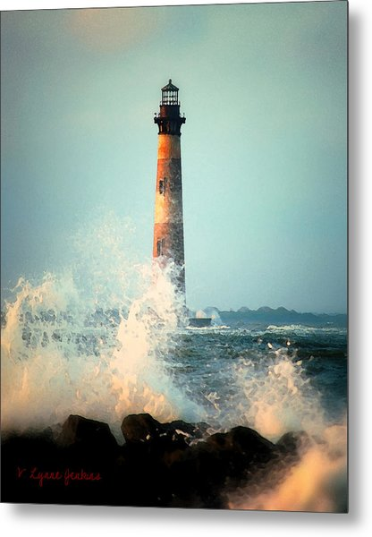 Morris Island Lighthouse Metal Print