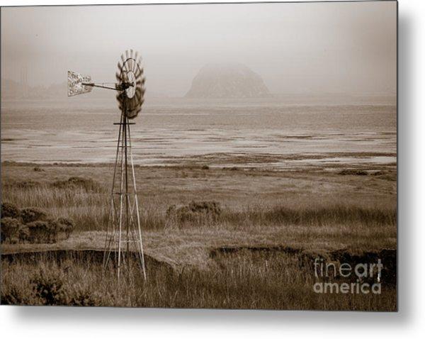 Morro Bay Windmill Metal Print