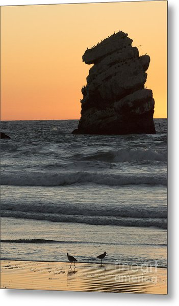 Morro Beach Sunset Metal Print