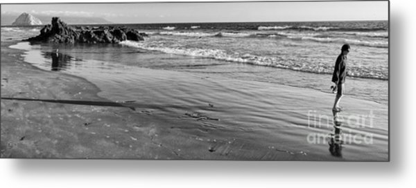 Morro Beach Walk Metal Print