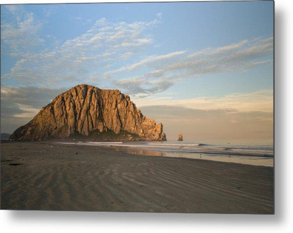 Morro Rock At Dawn Metal Print