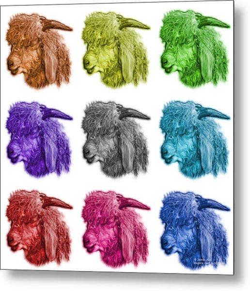 Mosaic Angora Goat - 0073 F - M - Wb Metal Print