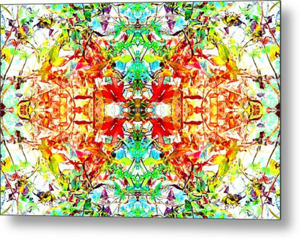 Mosaic Of Spring Abstract Art Photo Metal Print