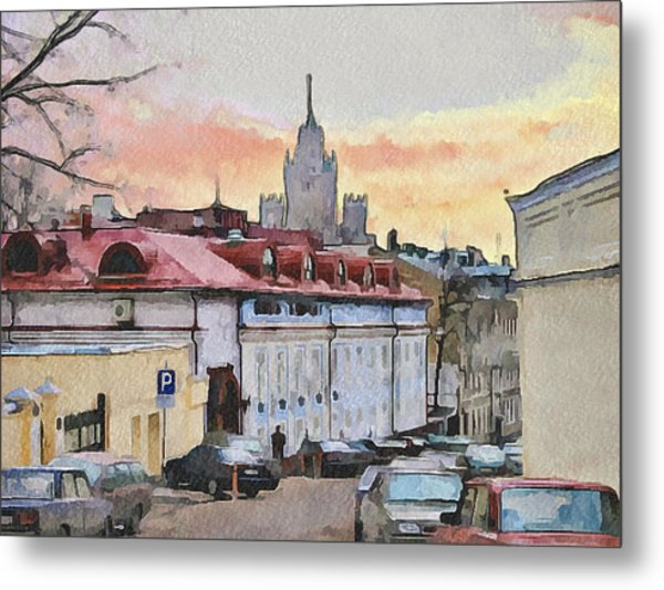 Moscow Old Streets 1 Metal Print by Yury Malkov