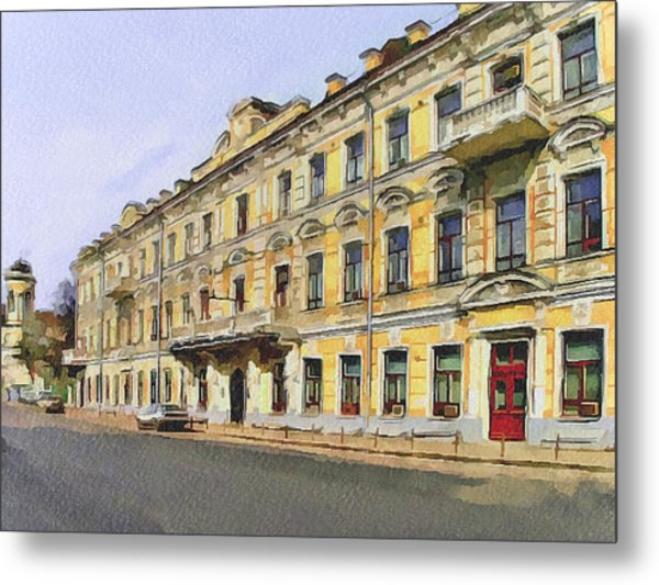 Moscow Old Streets 2 Metal Print by Yury Malkov
