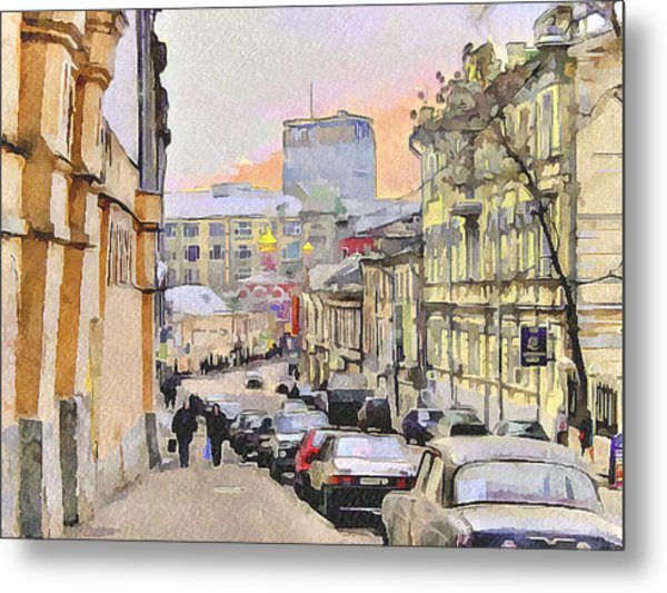 Moscow Old Streets 3 Metal Print by Yury Malkov