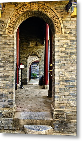 Moslem Door Xi'an China Metal Print