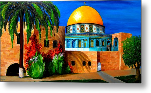 Mosque - Dome Of The Rock Metal Print