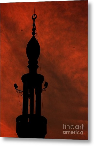 Mosque Metal Print by Mohamed Elkhamisy
